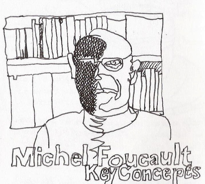 Drawing of Michel Focault by Paulien Maria